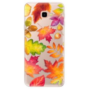 Silikonové pouzdro iSaprio (mléčně zakalené) Podzimní Lístečky na mobil Samsung Galaxy J4 Plus