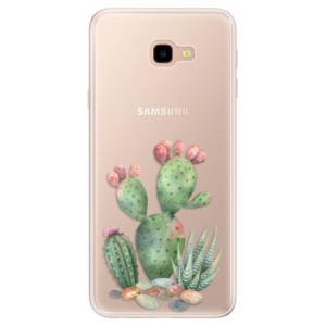 Silikonové pouzdro iSaprio (mléčně zakalené) Kaktusy 01 na mobil Samsung Galaxy J4 Plus