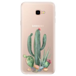 Silikonové pouzdro iSaprio (mléčně zakalené) Kaktusy 02 na mobil Samsung Galaxy J4 Plus