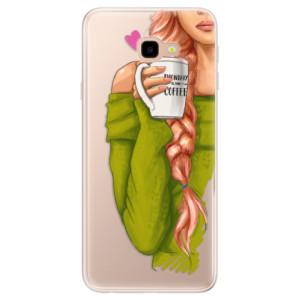 Silikonové pouzdro iSaprio (mléčně zakalené) Zrzka s kafčem na mobil Samsung Galaxy J4 Plus