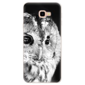 Silikonové pouzdro iSaprio (mléčně zakalené) BW Sova na mobil Samsung Galaxy J4 Plus
