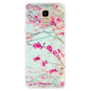 Silikonové pouzdro iSaprio (mléčně zakalené) Blossom 01 na mobil Samsung Galaxy J6