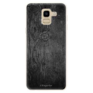 Silikonové pouzdro iSaprio (mléčně zakalené) Black Wood 13 na mobil Samsung Galaxy J6