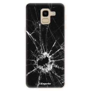Silikonové pouzdro iSaprio (mléčně zakalené) Broken Glass 10 na mobil Samsung Galaxy J6