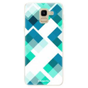 Silikonové pouzdro iSaprio (mléčně zakalené) Abstract Squares 11 na mobil Samsung Galaxy J6