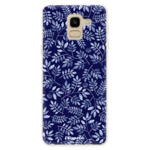 Silikonové pouzdro iSaprio (mléčně zakalené) Blue Leaves 05 na mobil Samsung Galaxy J6