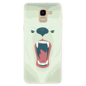 Silikonové pouzdro iSaprio (mléčně zakalené) Naštvanej Medvěd na mobil Samsung Galaxy J6