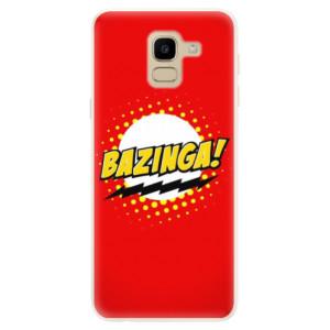 Silikonové pouzdro iSaprio (mléčně zakalené) Bazinga 01 na mobil Samsung Galaxy J6