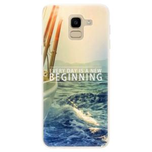 Silikonové pouzdro iSaprio (mléčně zakalené) Beginning na mobil Samsung Galaxy J6