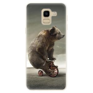 Silikonové pouzdro iSaprio (mléčně zakalené) Medvěd 01 na mobil Samsung Galaxy J6