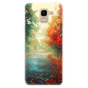 Silikonové pouzdro iSaprio (mléčně zakalené) Podzim 03 na mobil Samsung Galaxy J6