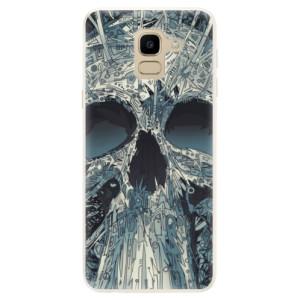 Silikonové pouzdro iSaprio (mléčně zakalené) Abstract Skull na mobil Samsung Galaxy J6