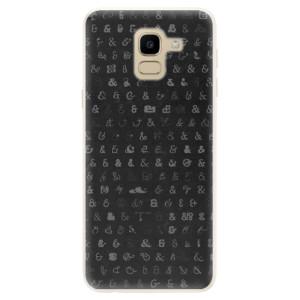 Silikonové pouzdro iSaprio (mléčně zakalené) Ampersand 01 na mobil Samsung Galaxy J6