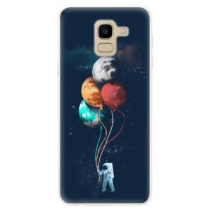 Silikonové pouzdro iSaprio (mléčně zakalené) Balónky 02 na mobil Samsung Galaxy J6