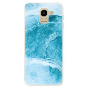 Silikonové pouzdro iSaprio (mléčně zakalené) Blue Marble na mobil Samsung Galaxy J6