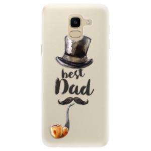 Silikonové pouzdro iSaprio (mléčně zakalené) Best Dad na mobil Samsung Galaxy J6