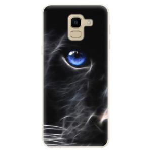 Silikonové pouzdro iSaprio (mléčně zakalené) Black Puma na mobil Samsung Galaxy J6