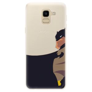 Silikonové pouzdro iSaprio (mléčně zakalené) BaT Komiks na mobil Samsung Galaxy J6