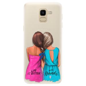Silikonové pouzdro iSaprio (mléčně zakalené) Best Friends na mobil Samsung Galaxy J6
