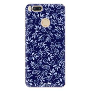 Silikonové pouzdro iSaprio (mléčně zakalené) Blue Leaves 05 na mobil Xiaomi Mi A1