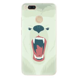Silikonové pouzdro iSaprio (mléčně zakalené) Naštvanej Medvěd na mobil Xiaomi Mi A1