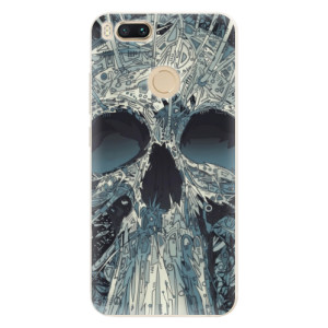 Silikonové pouzdro iSaprio (mléčně zakalené) Abstract Skull na mobil Xiaomi Mi A1