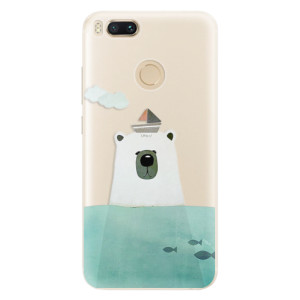 Silikonové pouzdro iSaprio (mléčně zakalené) Medvěd s Lodí na mobil Xiaomi Mi A1