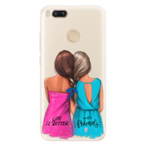 Silikonové pouzdro iSaprio (mléčně zakalené) Best Friends na mobil Xiaomi Mi A1