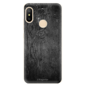 Silikonové pouzdro iSaprio (mléčně zakalené) Black Wood 13 na mobil Xiaomi Mi A2 Lite