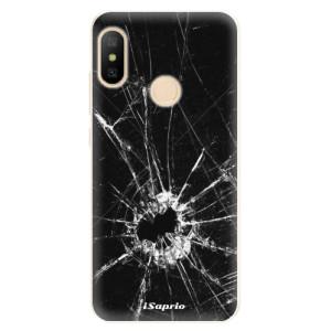 Silikonové pouzdro iSaprio (mléčně zakalené) Broken Glass 10 na mobil Xiaomi Mi A2 Lite