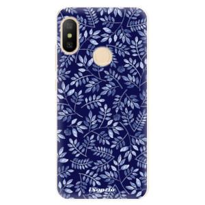 Silikonové pouzdro iSaprio (mléčně zakalené) Blue Leaves 05 na mobil Xiaomi Mi A2 Lite