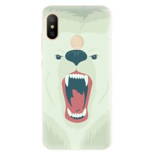 Silikonové pouzdro iSaprio (mléčně zakalené) Naštvanej Medvěd na mobil Xiaomi Mi A2 Lite