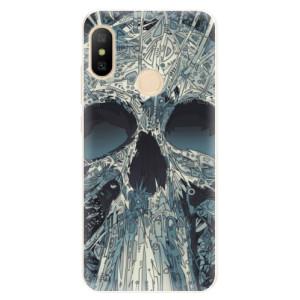 Silikonové pouzdro iSaprio (mléčně zakalené) Abstract Skull na mobil Xiaomi Mi A2 Lite