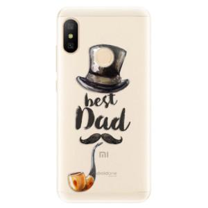 Silikonové pouzdro iSaprio (mléčně zakalené) Best Dad na mobil Xiaomi Mi A2 Lite