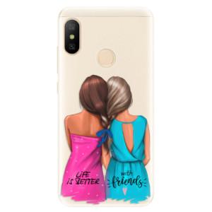 Silikonové pouzdro iSaprio (mléčně zakalené) Best Friends na mobil Xiaomi Mi A2 Lite