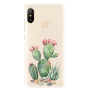 Silikonové pouzdro iSaprio (mléčně zakalené) Kaktusy 01 na mobil Xiaomi Mi A2 Lite