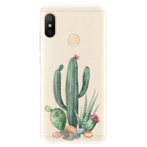 Silikonové pouzdro iSaprio (mléčně zakalené) Kaktusy 02 na mobil Xiaomi Mi A2 Lite