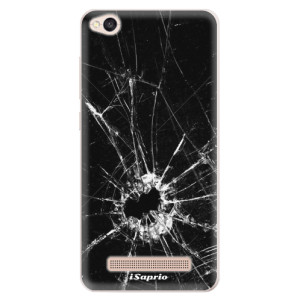 Silikonové pouzdro iSaprio (mléčně zakalené) Broken Glass 10 na mobil Xiaomi Redmi 4A