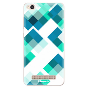 Silikonové pouzdro iSaprio (mléčně zakalené) Abstract Squares 11 na mobil Xiaomi Redmi 4A