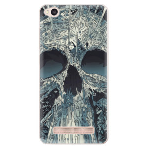 Silikonové pouzdro iSaprio (mléčně zakalené) Abstract Skull na mobil Xiaomi Redmi 4A