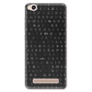 Silikonové pouzdro iSaprio (mléčně zakalené) Ampersand 01 na mobil Xiaomi Redmi 4A