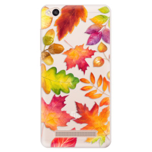 Silikonové pouzdro iSaprio (mléčně zakalené) Podzimní Lístečky na mobil Xiaomi Redmi 4A