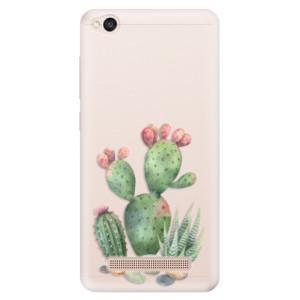 Silikonové pouzdro iSaprio (mléčně zakalené) Kaktusy 01 na mobil Xiaomi Redmi 4A
