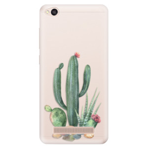 Silikonové pouzdro iSaprio (mléčně zakalené) Kaktusy 02 na mobil Xiaomi Redmi 4A