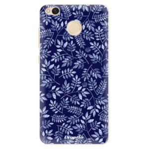 Silikonové pouzdro iSaprio (mléčně zakalené) Blue Leaves 05 na mobil Xiaomi Redmi 4X