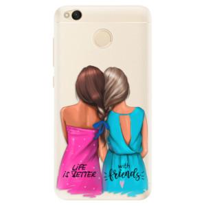 Silikonové pouzdro iSaprio (mléčně zakalené) Best Friends na mobil Xiaomi Redmi 4X