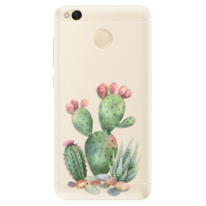 Silikonové pouzdro iSaprio (mléčně zakalené) Kaktusy 01 na mobil Xiaomi Redmi 4X