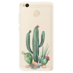 Silikonové pouzdro iSaprio (mléčně zakalené) Kaktusy 02 na mobil Xiaomi Redmi 4X