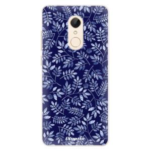 Silikonové pouzdro iSaprio (mléčně zakalené) Blue Leaves 05 na mobil Xiaomi Redmi 5
