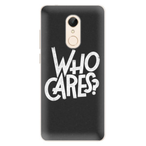 Silikonové pouzdro iSaprio (mléčně zakalené) Who Cares na mobil Xiaomi Redmi 5